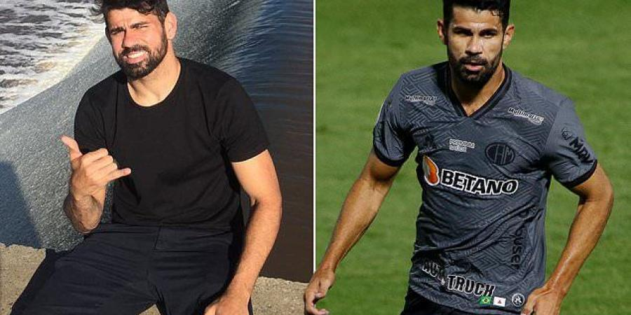 Former Chelsea striker Diego Costa is named in Brazilian media as the footballer at the centre of an alleged betting scandal being probed by police - who seized £1.77million in cash as part of the investigation this year